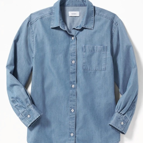 Old Navy Other - Old Navy Girls Chambray Boyfriend Tunic Shirt